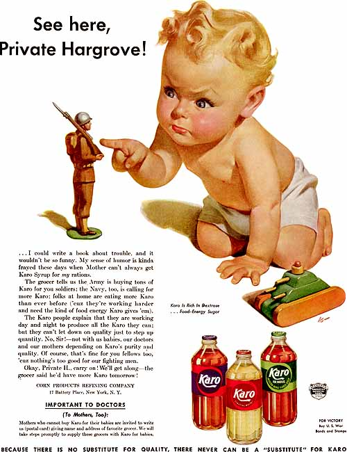 1942 Karo corn syrup advertisement