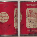 Reverse of a vintage Karo can