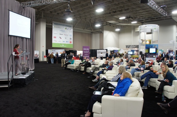 Showing off Treelines in RootsTech 2013's Demo Theater