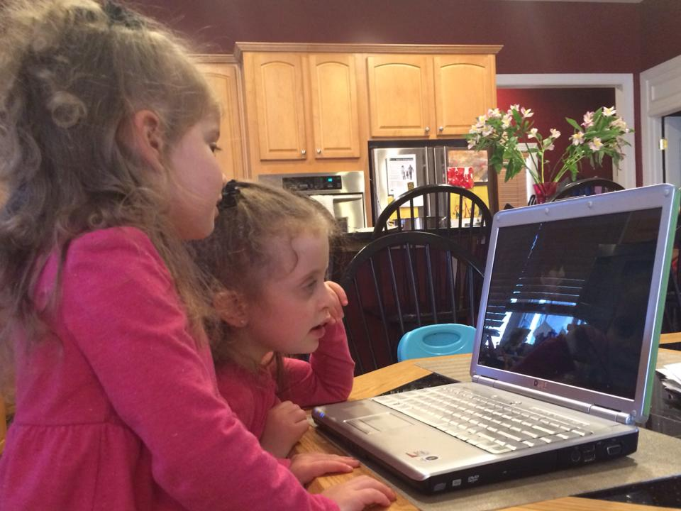 Older nieces watch my talk