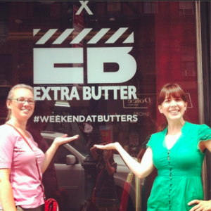 Nikole and I posing with a storefront we just happened to walk by!